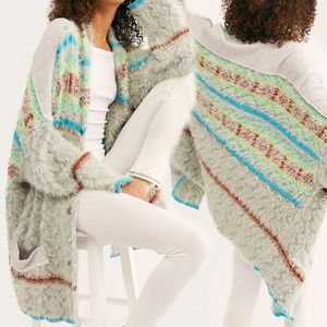 Free People Fair Weather Slouchy Cardigan Mint